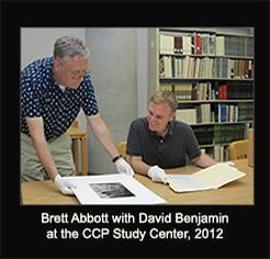 Brett Abbot with David Benjamin at CC Study Center, 2012